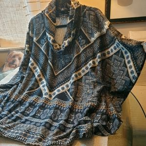 Sweater-Knit Pullover-Topper by Glance NWT